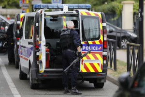 Two people were killed Thursday in a stabbing attack in Trappes, France, authorities said. The Islamic State claimed responsibility. Photo by Etienne Laurent/EPA-EFE