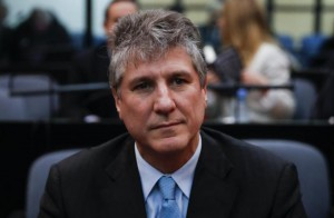 Former Argentinian Vice President Amado Boudou attends his trial at the tribunals of Buenos Aires, Argentina, on Tuesday before he was found guilty and sentenced to nearly 6 years in prison. Photo by David Fernandez/EPA-EFE