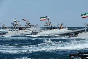 The Iraniabn Navy hold a drill in the Persian Gulf, which, a top Iranian leader said on Monday, is completely controlled by Iran. Photo courtesy of Iranian Ministry of Defense/Press TV