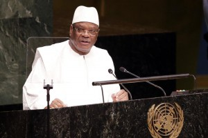 Mali President Ibrahim Boubacar Keita is expected to win the country's runoff presidential election. File Photo by John Angelillo/UPI | License Photo