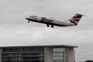 A British Airlines plane takes off from London's Gatwick Airport. A study by Which? Travel, released Monday, indicates that airlines are extending flight times to assure on-time arrivals and the avoidance of payouts for late arrivals. File Photo by Hugo Philpott/UPI | License Photo