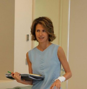 Asma al-Assad, Syria's first lady and wife of President Bashar al-Assad, is undergoing treatment for breast cancer, officials said Wednesday. Photo courtesy Syrian Presidency/Twitter