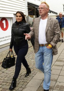 Norwegian Minister of Fisheries, Per Sandberg,and his girlfriend Bahareh Letnes, in Mandal, Norway, on Friday. Sandberg resigned from his position on Monday after a controversial private trip to Iran with his girlfriend of Iranian origin. Photo by EPA-EFE/ESPEN SAND Norway