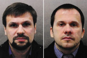 Alexander Petrov and Ruslan Boshirov have been charged with the poison attack on Sergei and Yulia Skripal in Salisbury, Britain, in March. Photo by London Metropolitan Police/EPA-EFE
