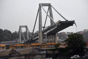 Italian prosecutors are investigating 20 people including managers at Autostrade in connection with an August bridge collapse in Genoa that killed 43 people. Photo by Luca Zennaro/EPA