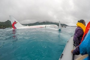 U.S. Navy sailors assist authorities in rescuing passengers and crew of an Air Niugini flight in Chuuk, Micronesia, Friday. Photo by Lt. Zach Niezgodski/U.S. Navy/UPI | License Photo