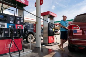 Jerry San Diego takes advantage of what little gas was available at a station in Little River, N.C., before Hurricane Florence slammed into the East Coast of the United States last week. File Photo by Ken Cedeno/UPI | License Photo