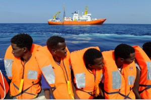 Italy tightened its immigration laws on Monday, allowing the government to quickly expel migrants convicted of serious crimes. Photo by SOS Mediterreanee/EPA-EFE