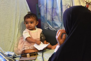 A Palestinian girl is treated for renal failure at Augusta Victoria Hospital in East Jerusalem, Monday. The East Jerusalem Hospital Network, which includes August Victoria, said a U.S. decision to cut $25 million in aid will cause great harm. Photo by Debbie Hill/UPI | License Photo