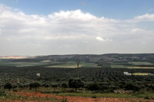 A view of fields in the northwestern province of Idlib, Syria, on April 20. On Tuesday, pro-Assad forces attacked the area, which is considered to be the rebels' last stronghold. File Photo by Mohammed Badra/EPA-EFE