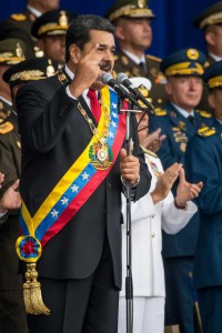 Officials have said U.S. officials met with Venezuelan military rebels several times last year to discuss a coup plot against Venezuelan President Nicolas Maduro, shown here. File Photo by Miguel Gutiérrez/EPA-EFE