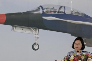 Taiwanese President Tsai Ing-wen is upgrading the country's fleet of fighter jets. File Photo by Ritchie B. Tongo/EPA-EFE