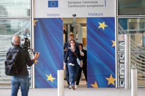 A team of European Union negotiators arrive Sunday to conduct talks with British representatives in Brussels on Britain's exit from the EU. Photo by Olivier Hoslet/EPA-EFE