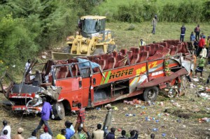 A bus crash in Kenya killed 50 people Wednesday. Photo by STR/EPA-EFE