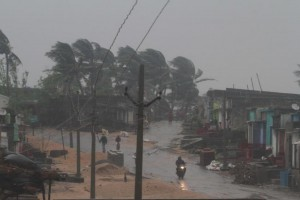 Cyclone Titli made landfall on India's eastern coast Thursday, killing 8 people. Photo by EPA-EFE