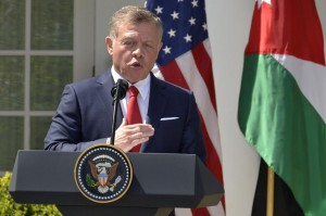 Jordan's King Abdullah II, seen here at the White House in 2017, announced plans Sunday to revoke parts of a peace treaty with Israel. File Photo by Mike Theiler/UPI | License Photo