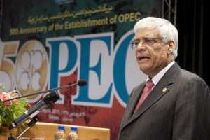 Former secretary General of OPEC Abdalla Salem El Badri during a ceremony to mark the 50th anniversary of the establishment of the Organization of Petroleum Exporting Countries in Tehran, Iran on April 19, 2011. Photo by UPI | License Photo