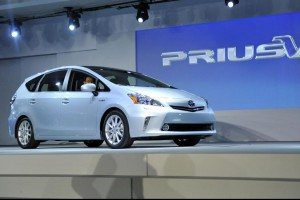 Toyota announced Friday a safety recall affects Prius models made between 2010 and 2014, including 2012-2014 models of the Prius v (pictured). File Photo by Brian Kersey/UPI | License Photo
