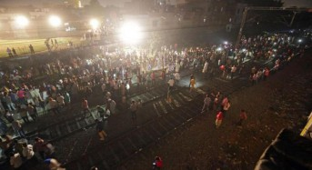 Train hits crowd at religious festival in India; at least 50 dead