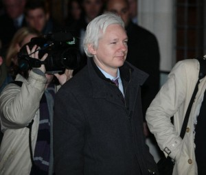 Wikileaks founder Julian Assange leaves the Supreme Court on the final day of his hearing to avoid extradition to Sweden in London on February 2, 2012. File Photo by Hugo Philpott/UPI | License Photo