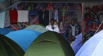 Immigrants evicted from Rome tent camp
