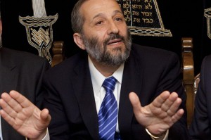 Israeli Interior Minister Aryeh Deri faces charges of fraud, money laundering and perjury. Photo Abir Sultan/EPA