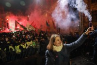 Hungary lawmakers join protesters to oppose 'slave law'