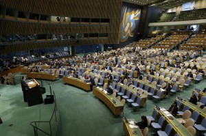 The United Nations General Assembly passed a resolution voicing grave concern over the militarization of Crimea and the Russian occupation of Ukrainian territory. File Photo by John Angelillo