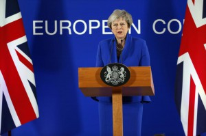 "British Prime Minister Theresa May speaks to the media at the end of European Council in Brussels, Belgium, on Nov. 25 after the leaders of the 27 remaining EU member countries endorsed the draft Brexit withdrawal agreement. On Sunday, May said the Parlimanet will enter ""uncharted waters"" if they don't approve the deal. Photo by Julien Warnand/EPA  Read more: https://www.upi.com/Top_News/World-News/2018/12/09/Theresa-May-to-Parliament-Back-me-or-risk-Brexit/9771544363149/#ixzz5ZDZjUpL5"