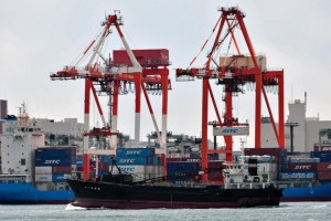 Japan registered its first trade deficit in three years last year, according to Tokyo's finance ministry. File Photo by Franck Robichon