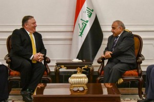 U.S. Secretary of State Mike Pompeo met with the new Iraqi Prime Minister Abil Abd al-Mahdi Wednesday in an unannounced visit to Iraq where he discussed the fight against the Islamic State and the U.S. withdrawal from Syria. Photo from Secretary Mike Pompeo/Twitter