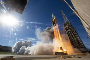 A Delta Heavy rocket carrying a spy satellite launched Saturday morning from Vandenberg Air Force Base in California. Photo courtesy United Launch Alliance/Twitter