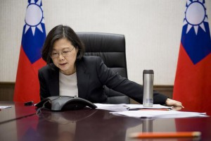 Taiwan President Tsai Ing-wen has rejected China's suggestion regarding the use of force in its reunification policy with Taiwan. File Photo courtesy of Office of the President of Taiwan