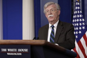 National security adviser John Bolton will meet with Turkish officials Monday to discuss the next phase of the Syrian Civil War as U.S. troops leave. Photo by Yuri Gripas