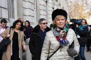 British Conservative Party lawmaker Anna Soubry announced Wednesday she was leaving the party to join an independent movement with defecting Labor Party members. Photo by Andy Rain