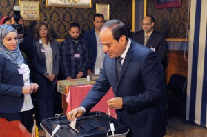 A Cairo court issued preliminary death sentences Monday to eight people convicted of involvement in a 2014 assassination plot against Egyptian President Abdel Fattah El-Sisi