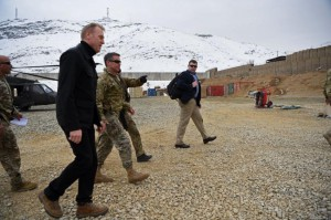 Acting U.S. Defense Secretary Patrick Shanahan walks with military members in Afghanistan on Monday. Photo courtesy U.S. Department of Defense