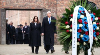 Pence honors Holocaust victims in visit to Auschwitz camp in Poland