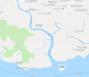 Malaysia's industrial town of Pasir Gudang entered its seventh day dealing with a health crisis caused by toxic chemicals dumped in the Sungai Kim Kim river. Photo courtesy Google Maps