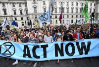 'Extinction Rebellion' disrupts traffic, London Stock Exchange on final day