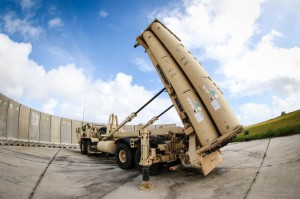 A Terminal High Altitude Area Defense (THAAD) sits in position at Andersen Air Force Base, Guam, on Feb. 5, 2019. The U.S. will deploy THAAD in Romania this summer on a temporary basis.