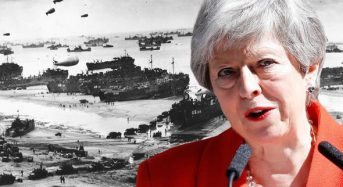 Theresa May hails Western alliances 'more important than ever' in poignant D-Day tribute