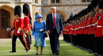 Donald Trump meets the Queen at start of UK state visit