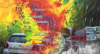 UK weather forecast: Britain braces for WEEK FROM HELL as TWO CYCLONES unleash flooding