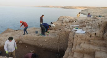 Ancient palace emerges from drought-hit Kurdistan  reservoir