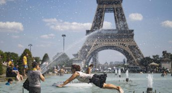Paris bans vehicles as city sizzles in historic heatwave