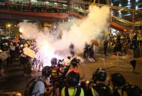 Hong Kong protests continue for seventh week; police fire tear gas at protesters