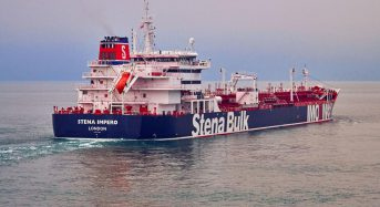 One of two seized British-linked tankers now in Iranian custody