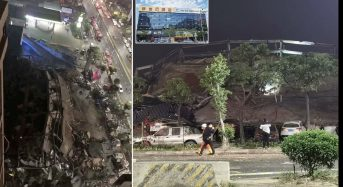 Hotel in China holding coronavirus victims in quarantine collapses as emergency service scramble to reach 70 trapped in the rubble