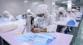 China's mask boom takes fabric away for nappy makers